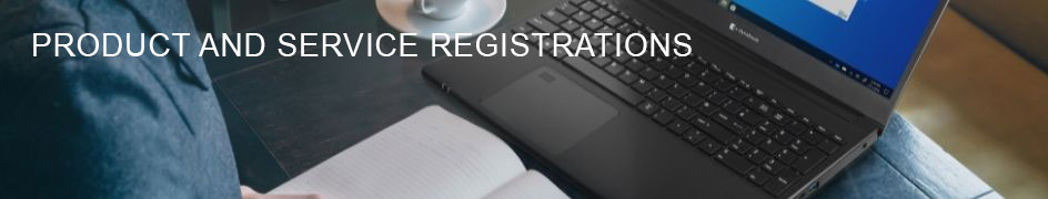 Product and service registrations